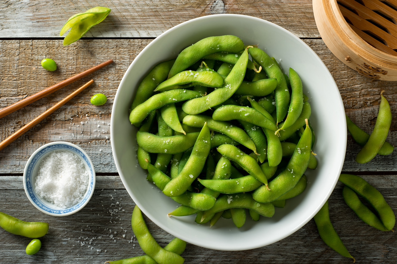 What hormones imbalance causes hot flashes-fresh steamed edamame