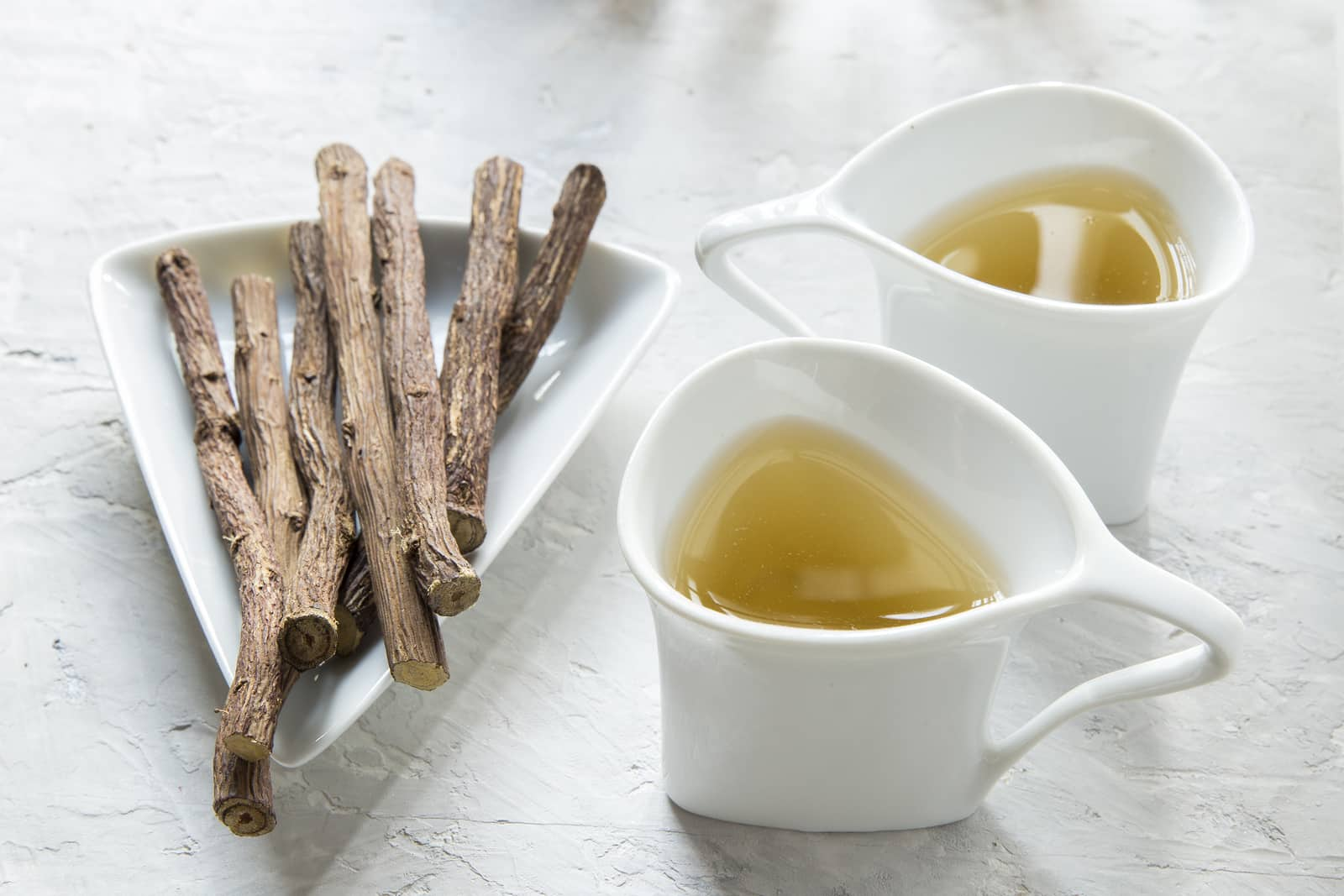 Licorice root tea for hot flashes