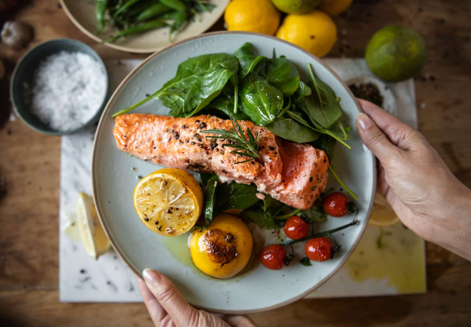 Grilled salmon for hormone-friendly stress-eating