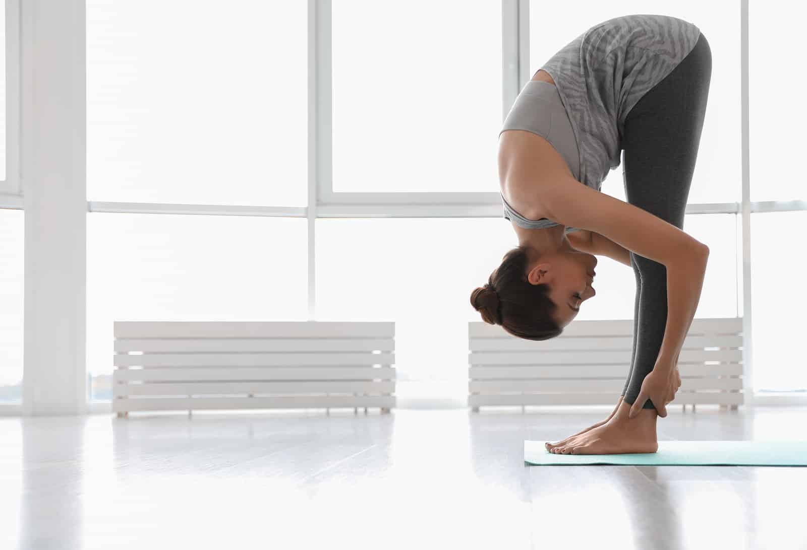 Yoga for stress relief- forward fold