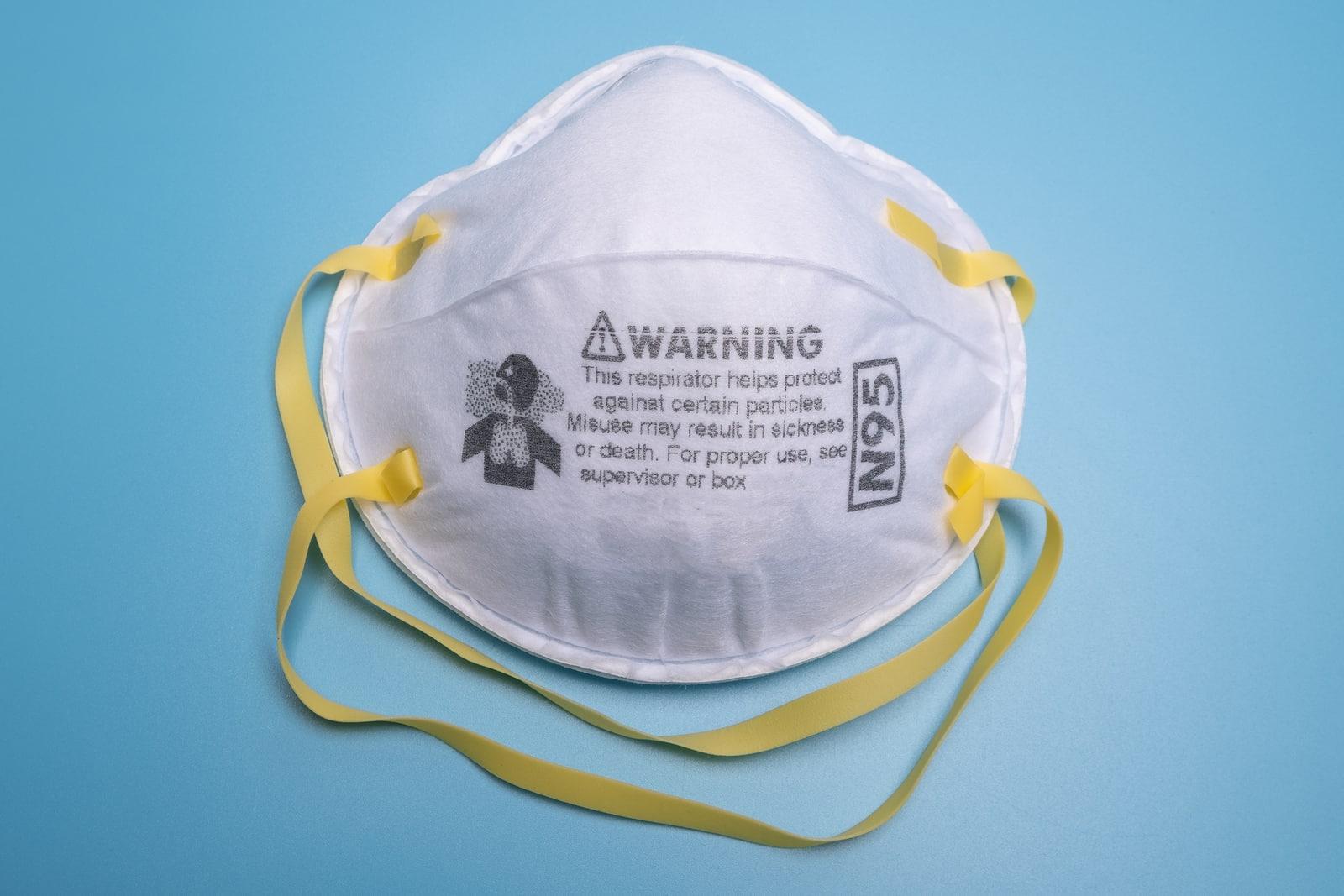 Yoga with a mask on- respirator mask