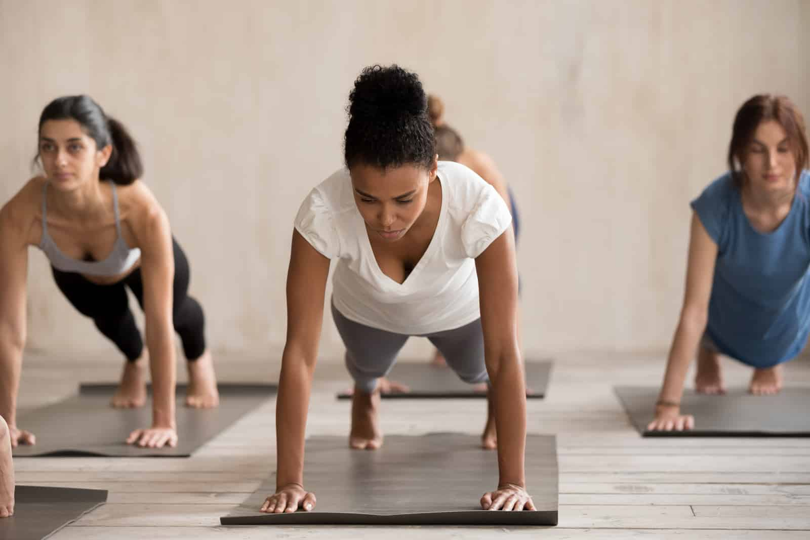 Yoga for stress relief- plank