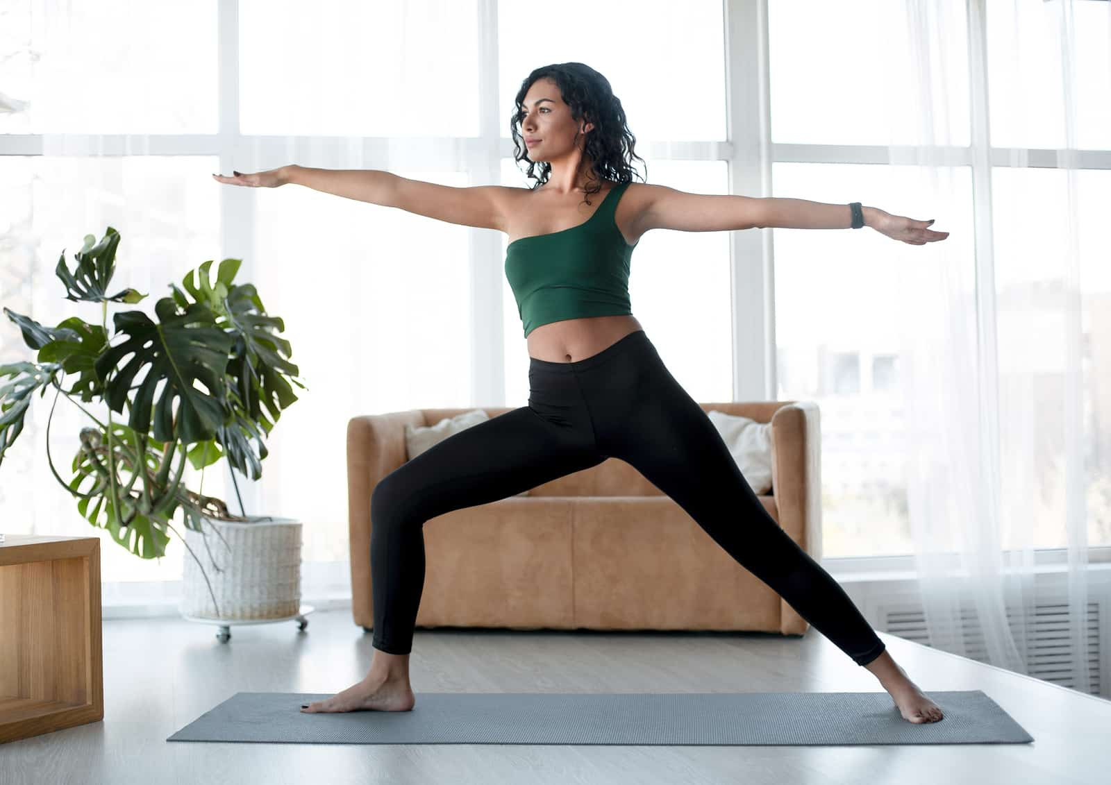 Yoga for stress relief- warrior II
