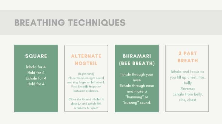 How to do breathing techniques for anxiety