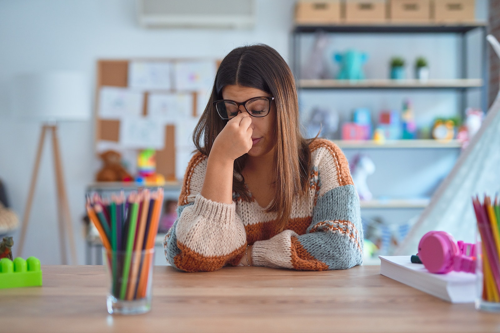 Can emotional stress cause pelvic pain- how are they connected- teacher in classroom stressed